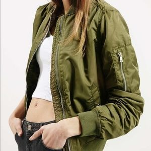 Topshop MA1 Army Green Bomber Jacket